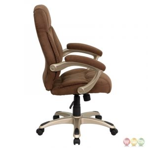 microfiber office chair high back brown microfiber upholstered contemporary office chair