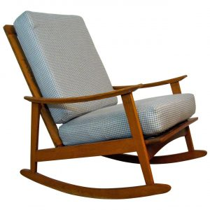 mid century modern rocking chair l