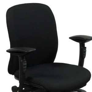 midback office chair teknion amicus black fabric