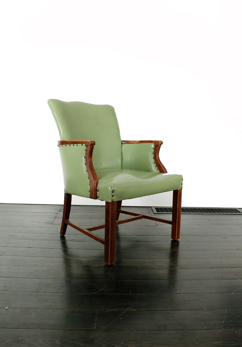 mint green chair