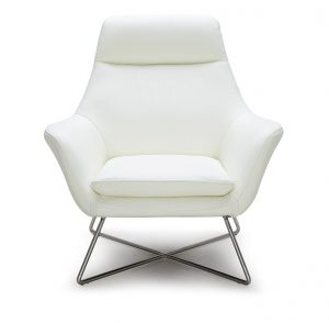 modern white leather chair a m