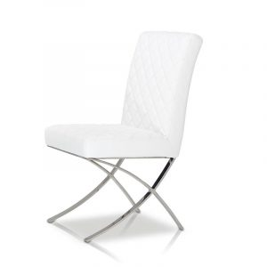 modern white leather chair c dsc