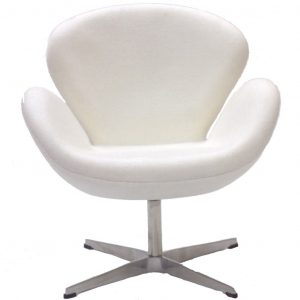 modern white office chair hug wool chair white