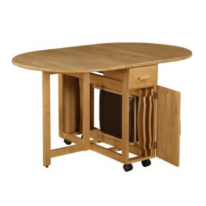 oak dining table and chair folding table of dining room for small spaces