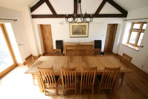 oak dining table and chair large tallinn dining table barn photo set
