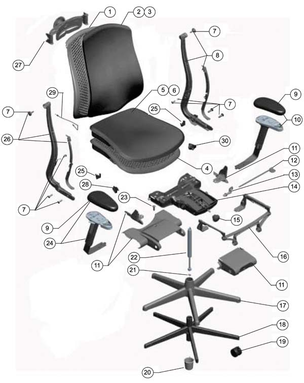 Office Chair Replacement Parts Mrsapo Com