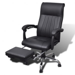 office chair with footrest image