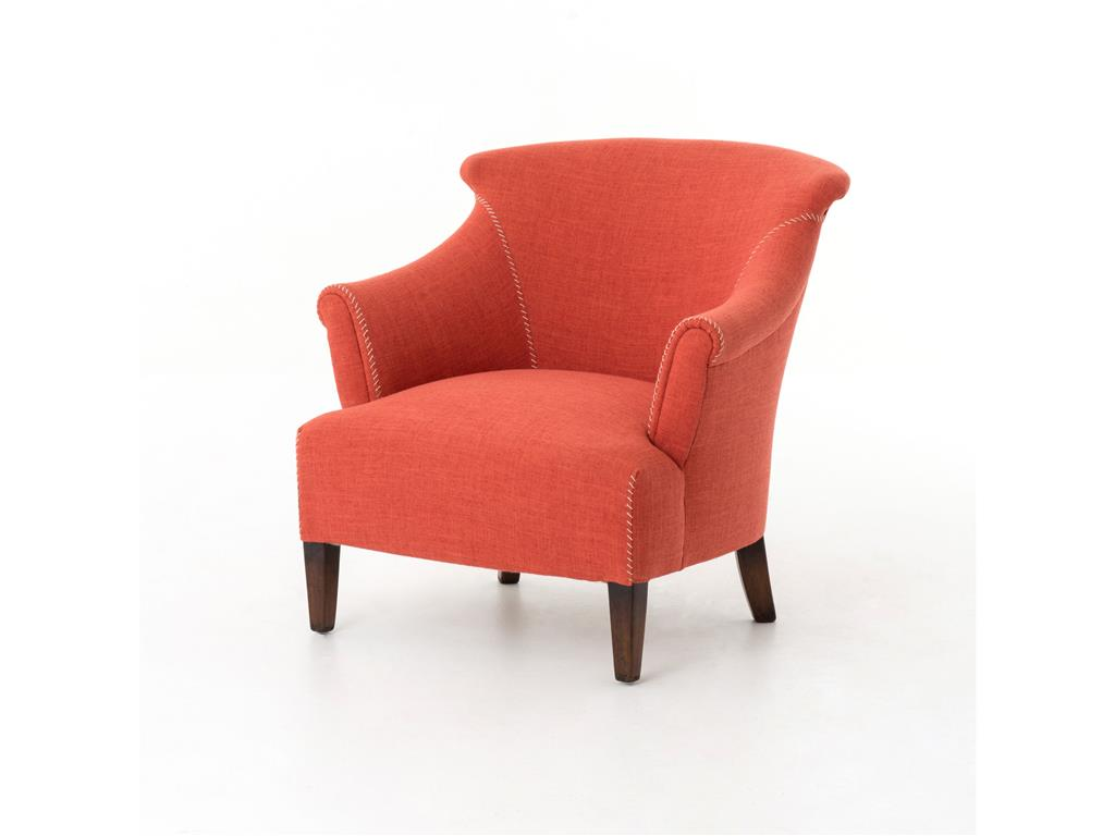 oversized comfy chair red upholstered reading chair with back and arms for bedroom