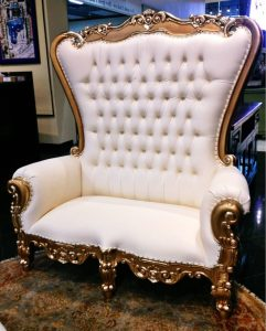 oversized tufted chair king david gold sofa e