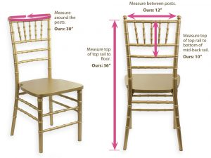 party rental chair diagram