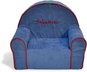 personalized toddler chair personalized toddler chair blue microsuede