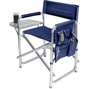 picnic time sports chair picnic time portable navy sports chair l