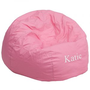 pink bean bag chair embroidered oversized solid light pink bean bag chair dg bean large solid pk emb gg