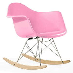 pink rocker chair pink rocking chair rar rocker pinky fiber glass charles eamer crossing iron legs wooden designed plastic interior indoor furniture product