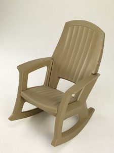 plastic rocking chair