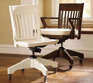 pottery barn desk chair traditional office chairs