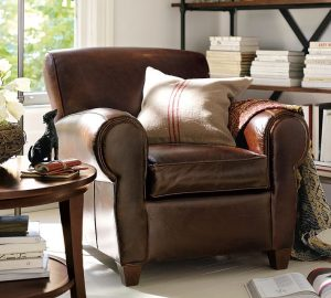 pottery barn leather chair pbmanhattan