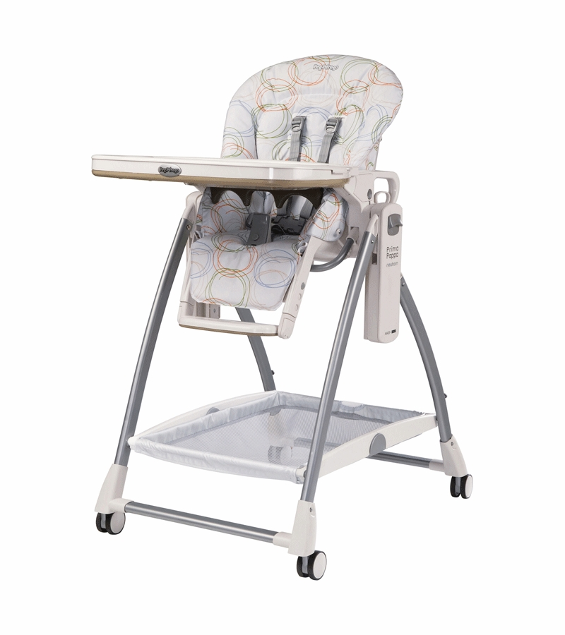 primo pappa high chair peg perego prima pappa newborn high chair in circles color with upholstery defect