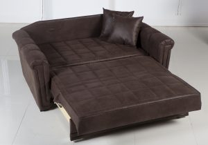 pull up a chair dark leather loveseat sleeper idea with a pair of leather pillows