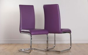 purple dining room chair