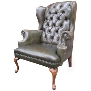 queen ann wingback chair z