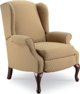 queen ann wingback chair lane hampton hi leg recliner