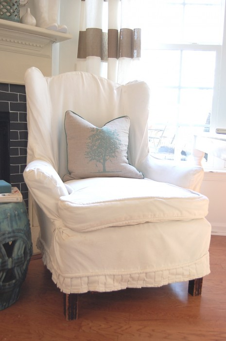 queen anne chair slipcovers