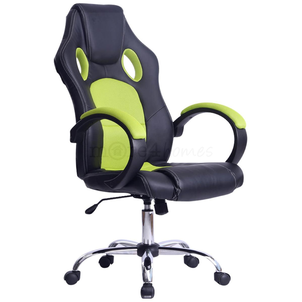 race car office chair prix green pic