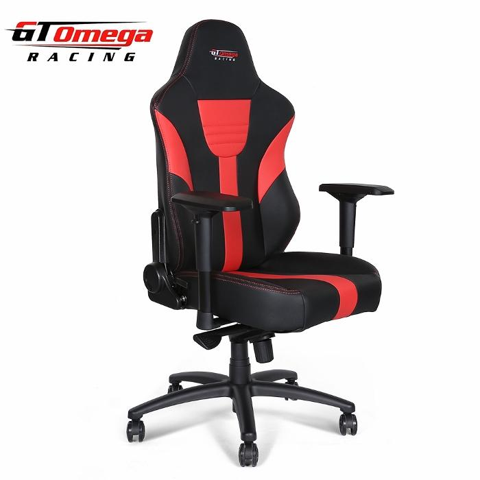 racing office chair gt omega master xl racing office chair black and red leather () x