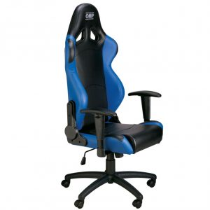 racing seat office chair omp office black blue