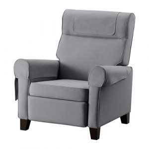 recliner chair ikea muren poltrona reclinabile grigio pe s