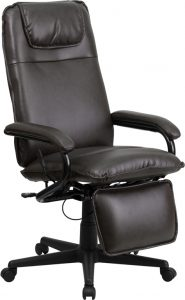 reclining office chair with footrest bn