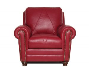 red leather chair weston c