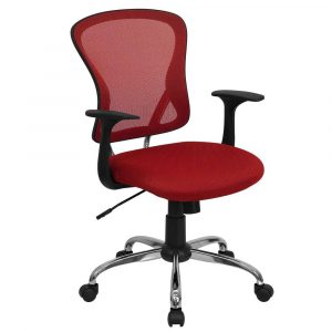 red office chair red mesh swivel office chair for executive