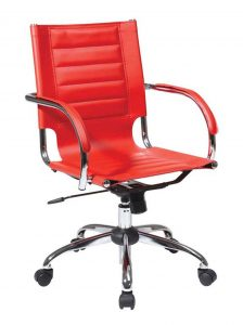 red office chair stylish adjustable height red leather office chair