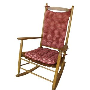 rocking chair cushion sets rocking chair cushion set britt red plaid reversible tufted for standard or extra large rocker
