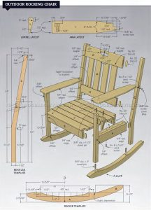 rocking chair plans outdoor rocking chair plans
