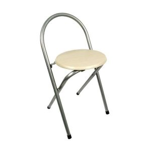 round folding chair round seat folding chair without backrest