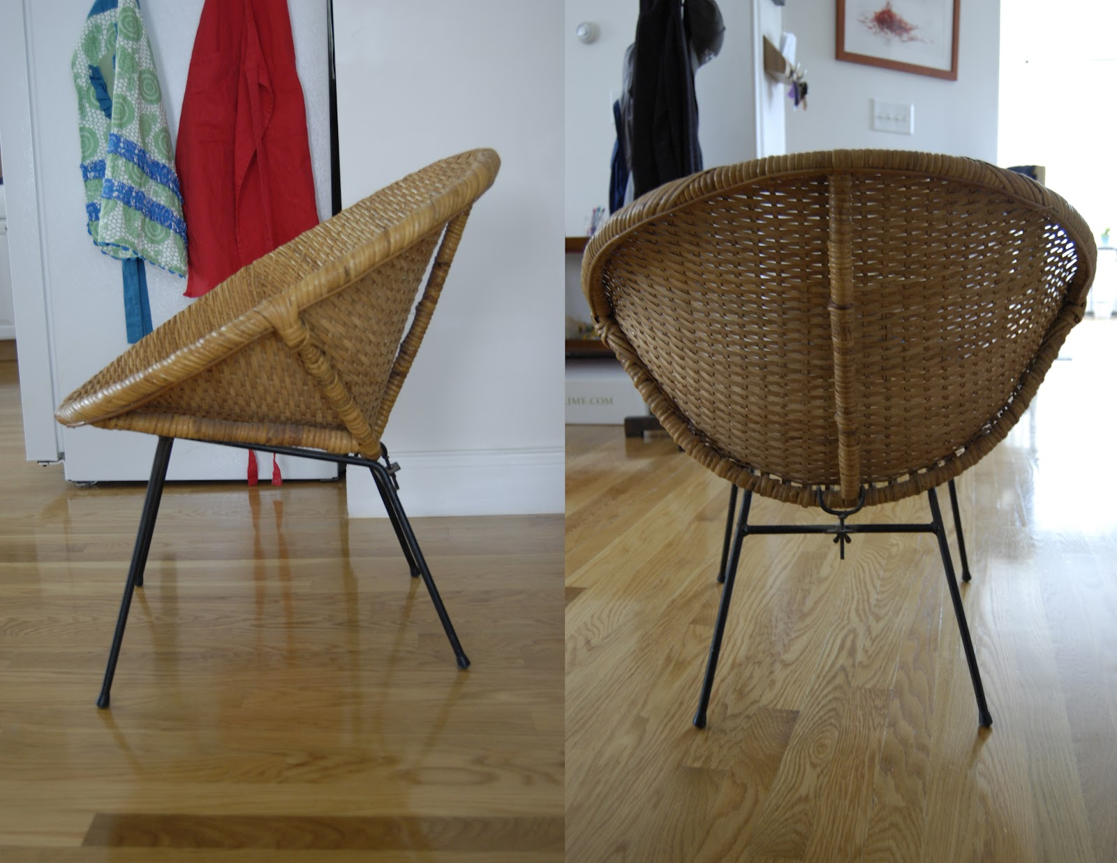 round wicker chair