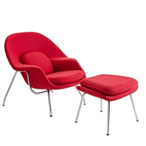 saarinen womb chair eei red