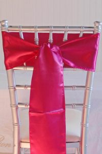 sash for chair fuchsia pink satin chair sashes pack of c