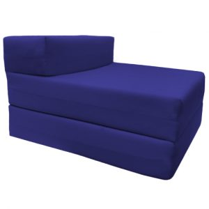 single fold out bed chair royal blue