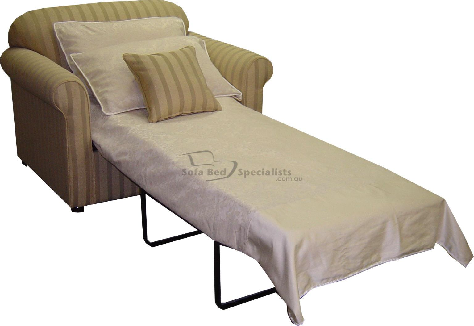 single fold out bed chair
