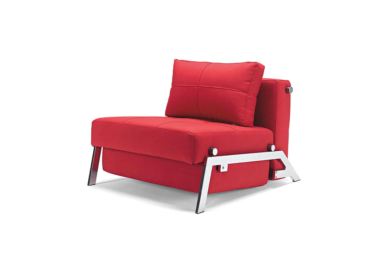 sleeper chair bed inspiring red single sleeper chair with steel frame and comfortable big cushion for comfortable living room