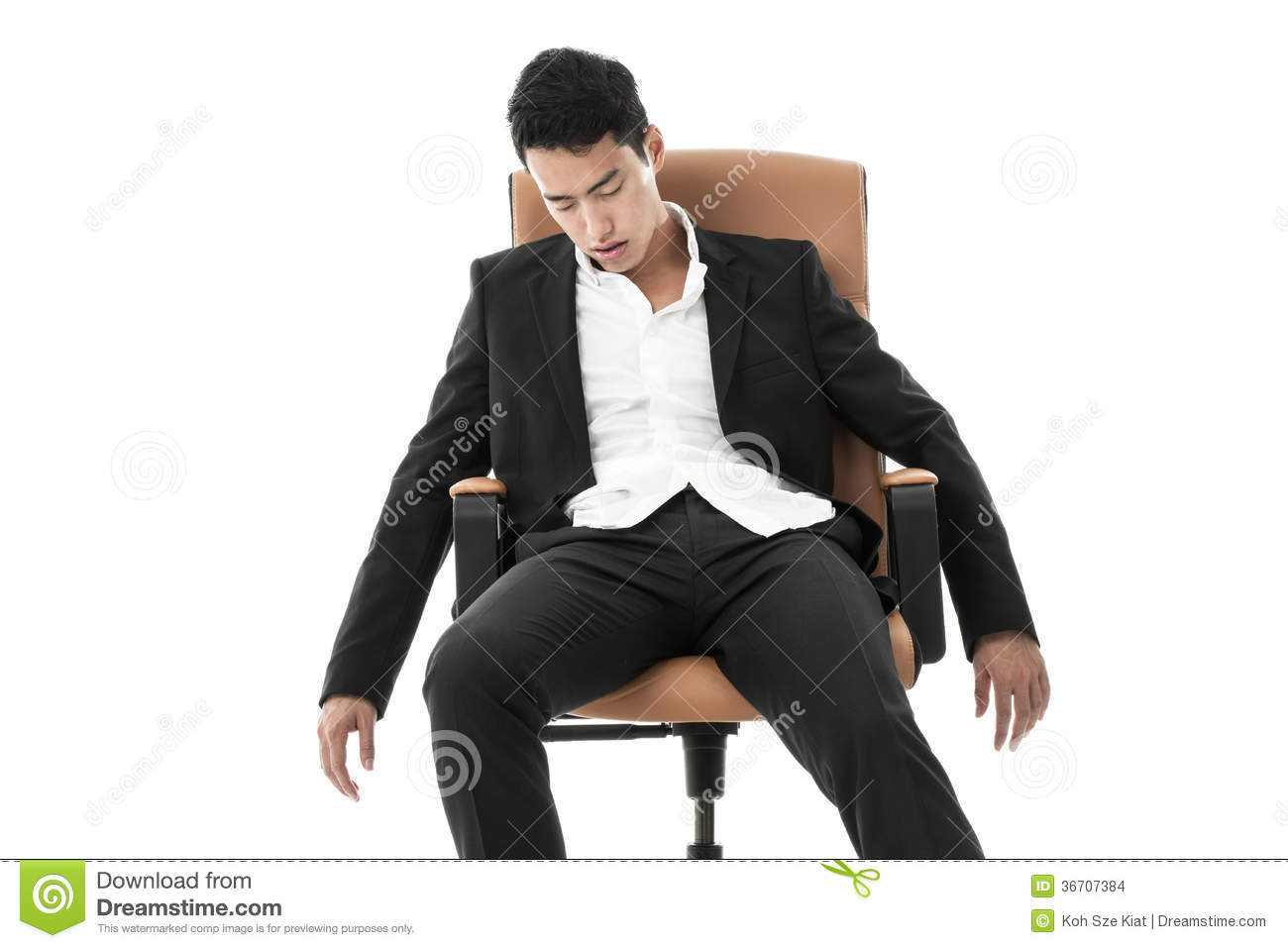 sleeping in a chair