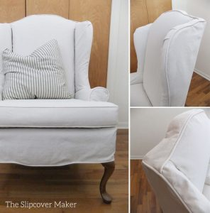 slipcover for wingback chair natural carr go canvas chair slipcover