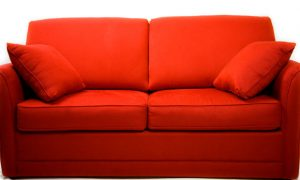 small comfy chair red couch