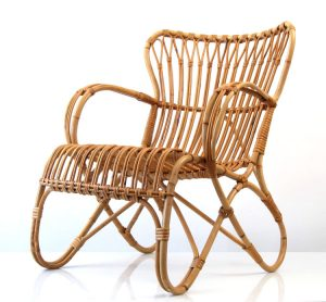 stationery desk chair dirk van sliedrecht vintage rotan relax chair