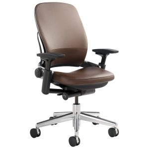 steel case chair steelcase leap chair in leather