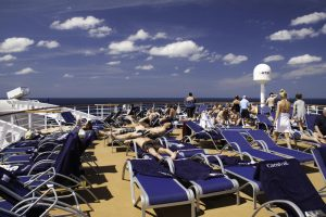 sunning lounge chair carnival cruise ship sunning top deck